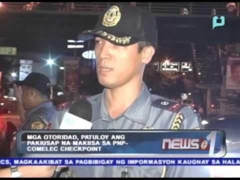 Mga otoridad, patuloy ang pakiusap na makiisa sa PNP-COMELEC checkpoint