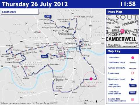 ROADS: Thursday 26 July - Olympic Torch Relay