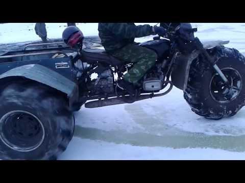 Как сделать снегоход своими руками из урала видео