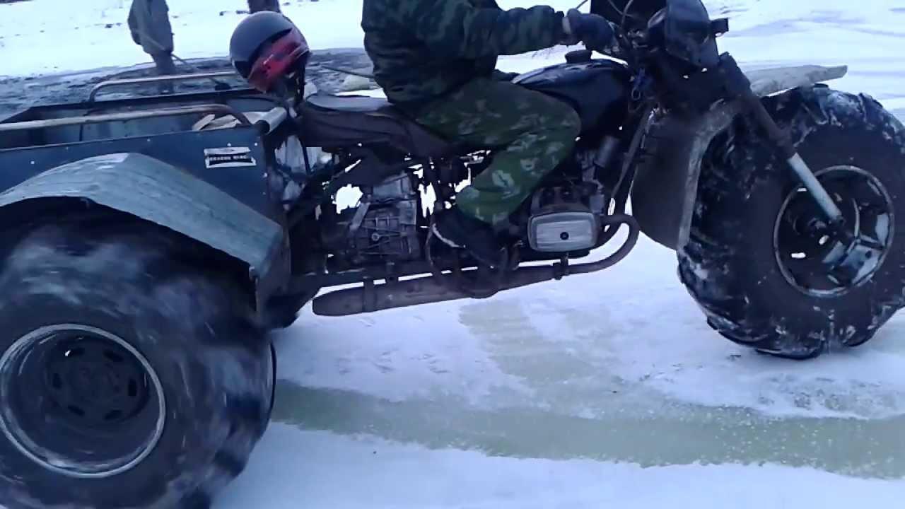 Снегоход мотоцикла своими руками