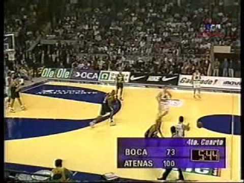Atenas Boca final 4to juego LNB 1998