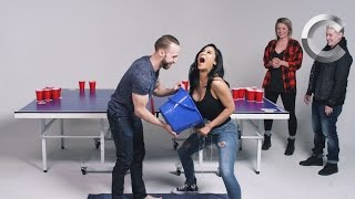 Couples Play Fear Pong