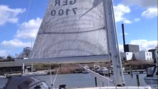 UK Sailmakers XC45 Boom Furling Main Sail Demonstration