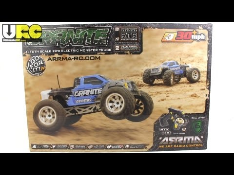 ARRMA Granite 2WD monster truck unboxed