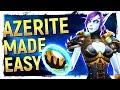 BFA MADE SIMPLE Heart Of Azeroth Artifact Power Farming Azerite Gear Guide mp3