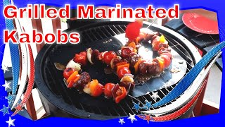 Grilled Steak Kabobs with Vegetables - Homemade Marinade and Sauce!