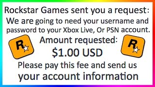 WARNING! - ROCKSTAR GAMES WANTS MY ACCOUNT PASSWORD? - NEW MONEY SCAM FOR ALL GTA ONLINE PLAYERS!