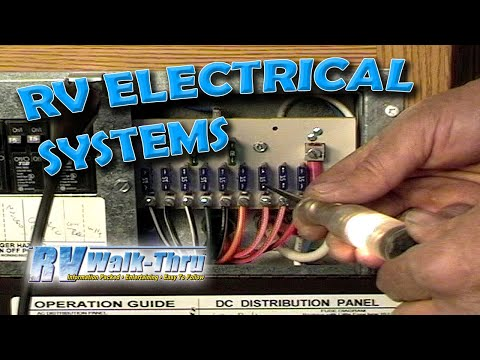 RV Walk-Thru: Electrical - Learn how the electrical system works on on travel trailers wiring diagram, camper wiring diagram, battery wiring diagram, electrical distribution wiring diagram, rv solar voltage regulator, motorhome wiring diagram, home wiring diagram, rv solar cover, inverter wiring diagram, rv three battery wiring, electricity wiring diagram, rv solar connection, photovoltaic wiring diagram, rv solar generator, rv charger wire diagram, wind power wiring diagram, lighting wiring diagram, rv solar air conditioning,