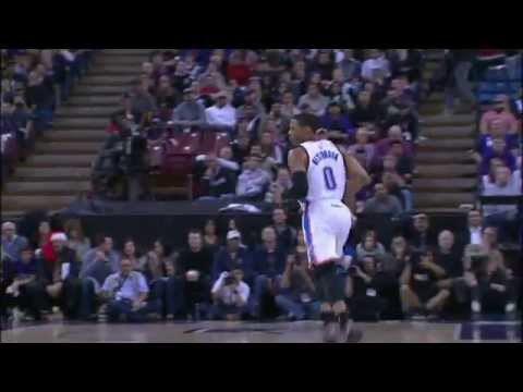 Russell Westbrook Sneaks in for the Two-Handed Tomahawk