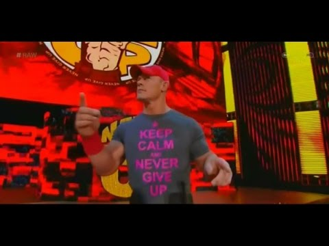 John Cena Theme with Crowd Singing John Cena Sucks! on WWE Raw...