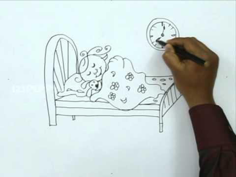 Girl Sleeping Drawing How to Draw a Girl Sleeping