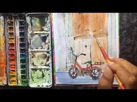 Bicycle Sketch by Ankur Zalawadia, Ahmedabad, India