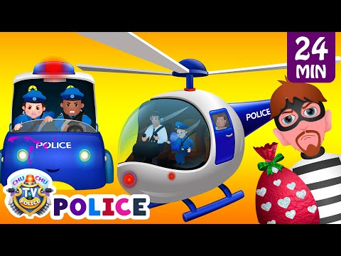 ChuChu TV Police Thief Chase - Police Car, Helicopter, Bike | Save Surprise Eggs Kids Toys & Gifts