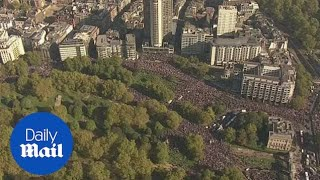 Thousands fill the streets of London for the People's Vote march