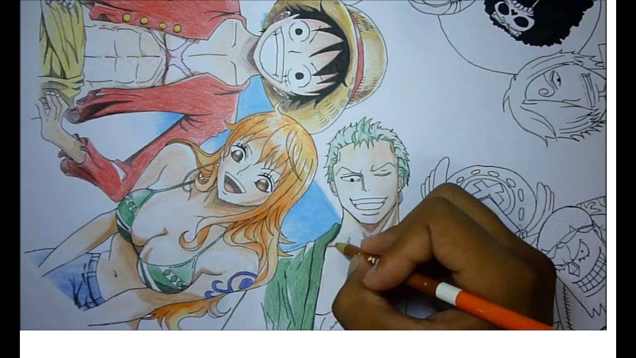 Youtube Crew Drawing Speed Drawing One Piece Toda