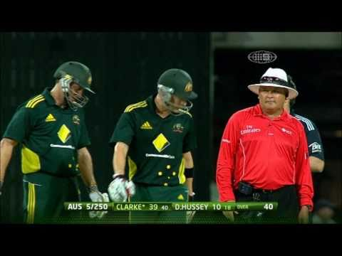 Michael Clarke & Umpires - Heated discussion over P-Plays