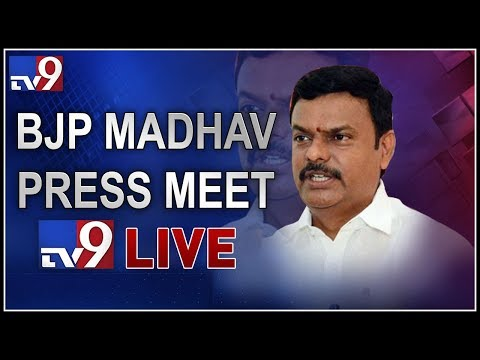 BJP MLC Madhav Press Meet LIVE || Vijayawada - TV9