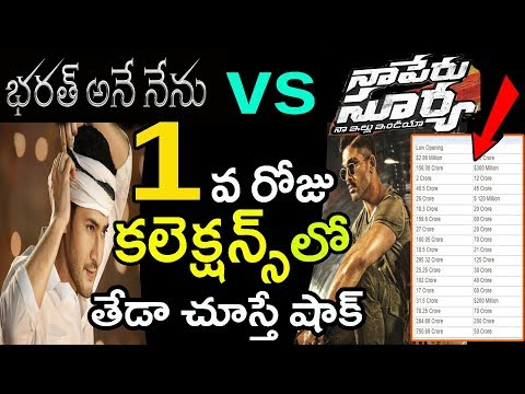 Bharat Ane Nenu Vs Naa Peru Surya Movie First day Box Office Collections Report ! | Mahesh Vs Bunny