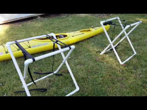 DIY Portable PVC kayak stand