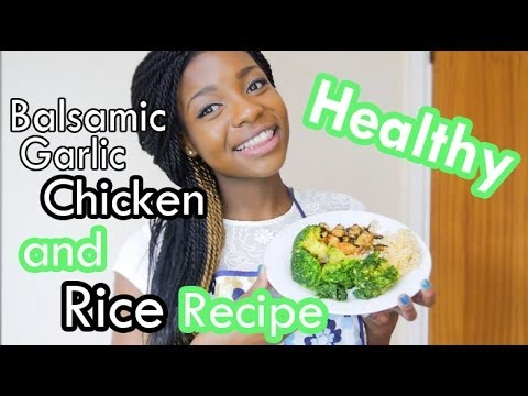 Healthy Balsamic Garlic Chicken and Rice Recipe