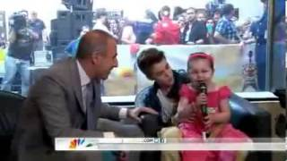 Justin Bieber and little Mrs Bieber and Selena Gomez on the Today show...VEVO
