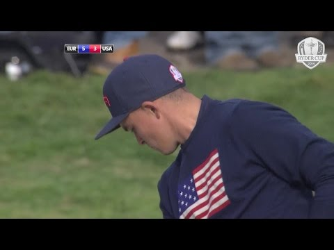 Rickie Fowler's Amazing Bunker Shot - Day 2 Fourballs - 2014 Ryder Cup