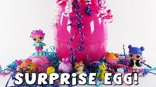 Surprise Egg Filled with Toys that you LOVE! LOL Surprise, Shopkins, Num Noms! The Amy Jo Show DCTC