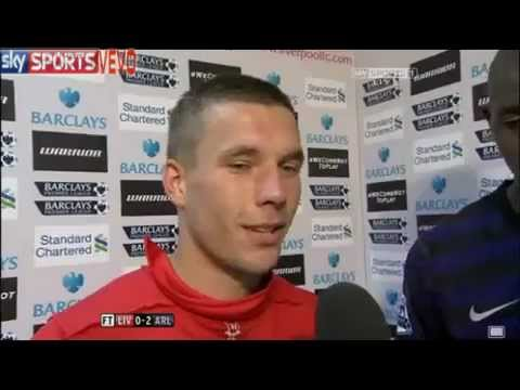Lukas Podolski & Abou Diaby | English Interview | Liverpool vs. Arsenal