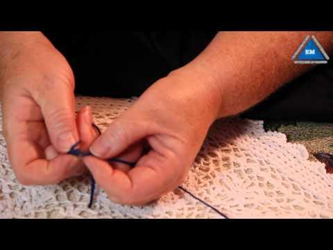 Как связать две нити без узла  при вязании