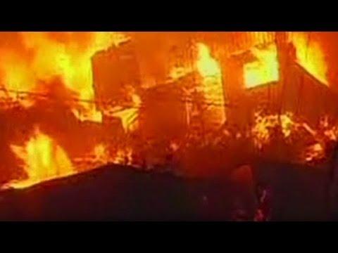 Intense fire scorches Chile neighborhood