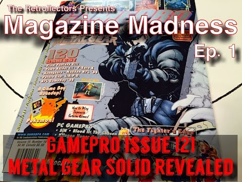 Metal Gear Solid Revealed | GamePro Issue 121 | Magazine Madness Ep.1 | The Retrollectors