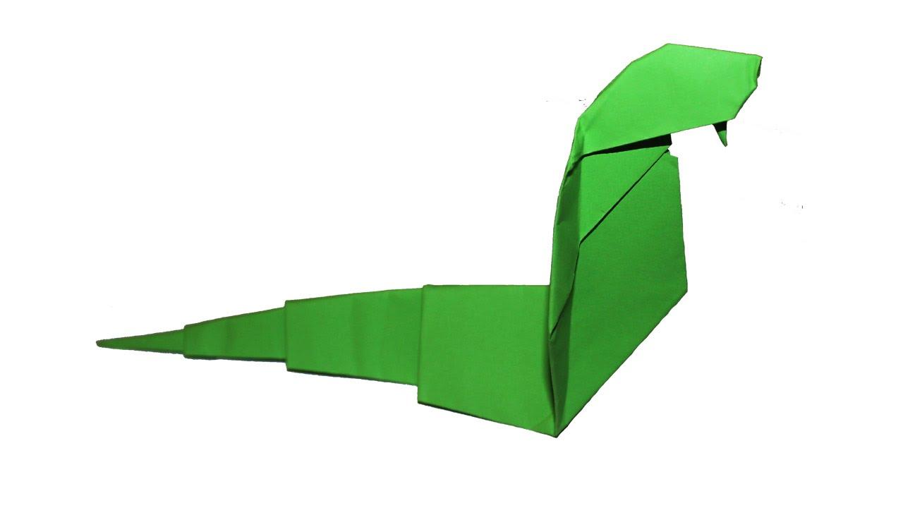 Как из оригами сделать змею 813