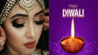 தீபாவளிக்கு இப்படி மேக்கப் போட்டு அழகா கொண்டாடுங்க |Simple Diwali Makeup |Festve Makeup look