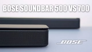 Bose Soundbar 500 vs 700 Comparison and Review!