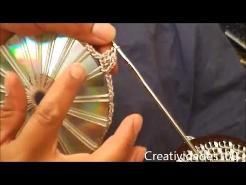 Como hacer un bolso con fichas tutorial: Bolso con CD y anillas parte 1