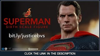 Batman V Superman Hot Toys Superman Movie Masterpiece 1/6 Scale Figure Sideshow Exclusive Review