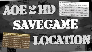 Age of Empires 2 HD - How to find location of saved & recorded games or Scenarios (AoE 2 HD)
