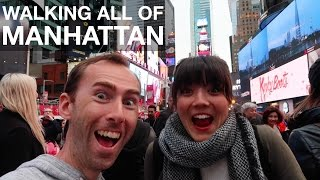 Walking ALL OF MANHATTAN in One Day