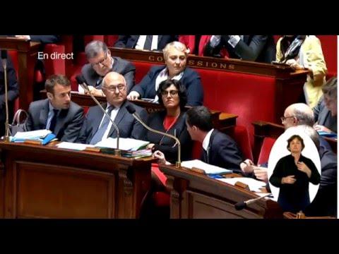 Manuel Valls rabroue Emmanuel Macron 10.05.2016