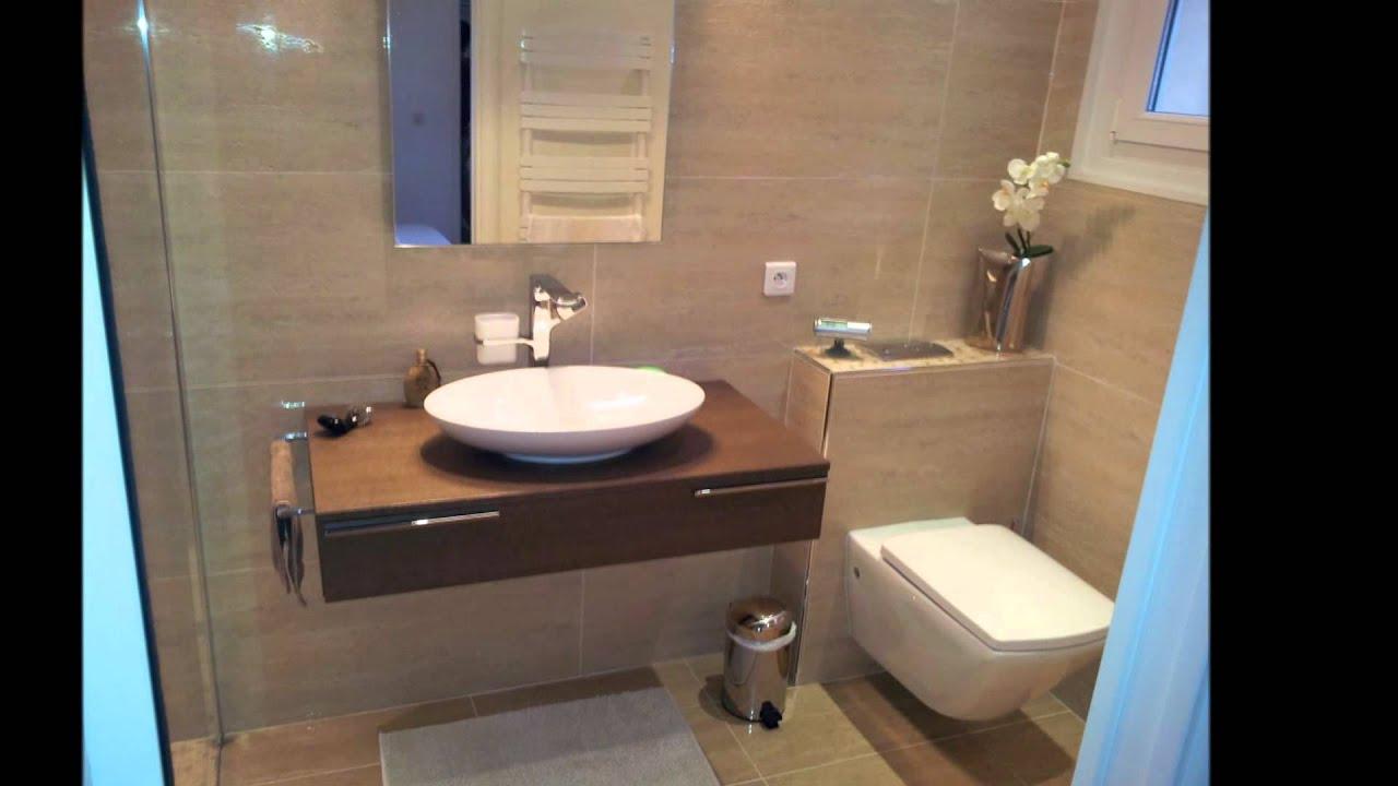 Salle de bains ergonomique moderne youtube for Salle de bain 3m2 avec douche