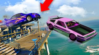HE FLEW OFF THE PIER! *DELUXO TROLLING!* | GTA 5 THUG LIFE #304