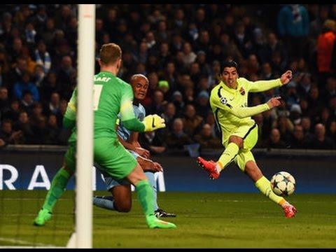 Luis Suárez vs Manchester City 24/2/15 todas sus jugadas Highlights Manchester City 1 vs 2 Barcelona