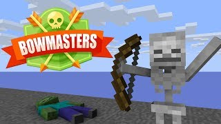 Monster School : BOWMASTERS CHALLENGE - Minecraft Animation