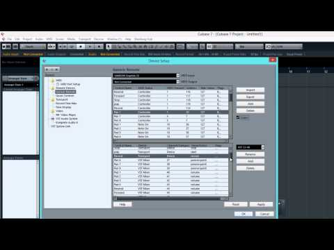 MIDI Mapping Your Controller in Cubase 7 - Audio Mentor
