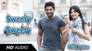Race Gurram Songs | Sweety Song Lyric | Allu Arjun, Shruti hassan, S.S Thaman