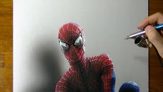 Drawing Time Lapse: The Amazing Spider-Man portrait, fan Art