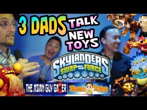 3 Dads Talk SwapForce: Asian Guy Gamer & EvanTubeHD with NEW E3 Skylanders 4 Swap Force