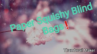 Paper Squishy Blind Bags Homemade