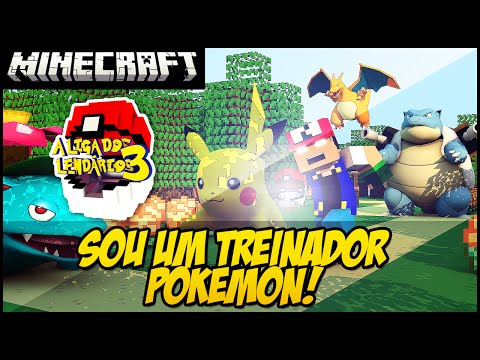 Minecraft LIGA DOS LENDÁRIOS REZENDE O TREINADOR POKEMON #1