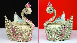 WoW ! What an Amazing DIY Peacock Showpiece! Handcraft diy projects - Showpiece making using jute